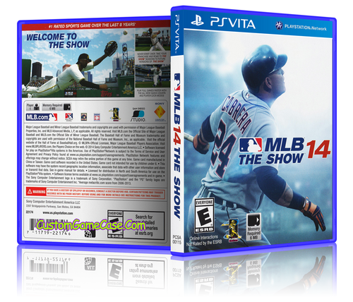 MLB 14 - Sony PlayStation PS Vita - Empty Custom Replacement Case