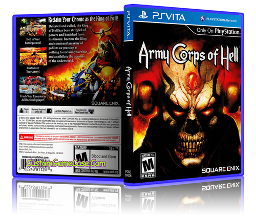 Army Corps of Hell (2) - Sony PlayStation PS Vita - Empty Custom Replacement Case