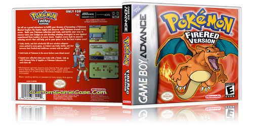 Pokemon Fire Red Version - Gameboy Advance GBA - Empty Custom Replacement Case