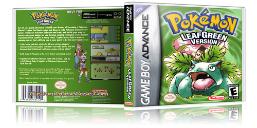 Pokemon Leaf Green Version - Gameboy Advance GBA - Empty Custom Replacement Case