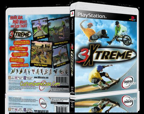 3Xtreme - Sony PlayStation 1 PSX PS1 - Empty Custom Case