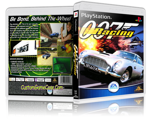 007 - Racing - Sony PlayStation 1 PSX PS1 - Empty Custom Case