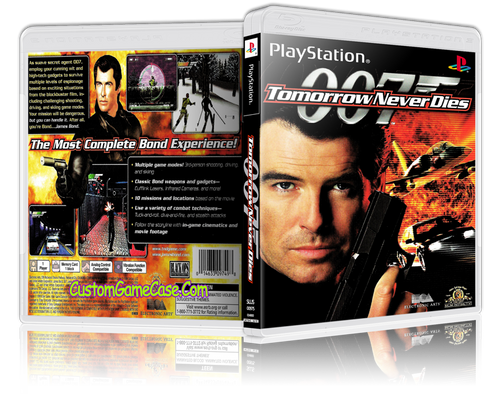 007 - Tomorrow Never Dies - Sony PlayStation 1 PSX PS1 - Empty Custom Case