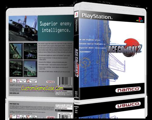 Ace Combat 2 - Sony PlayStation 1 PSX PS1 - Empty Custom Case