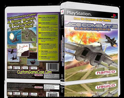 Ace Combat 3 - Sony PlayStation 1 PSX PS1 - Empty Custom Case
