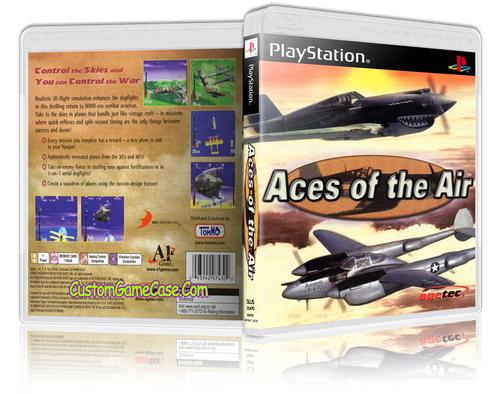 Aces of the Air - Sony PlayStation 1 PSX PS1 - Empty Custom Case