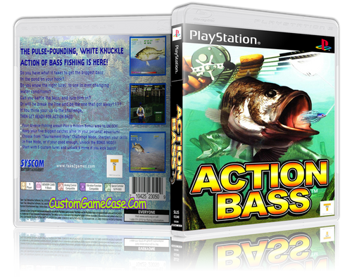 Action Bass - Sony PlayStation 1 PSX PS1 - Empty Custom Case