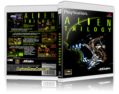 Alien Trilogy - Sony PlayStation 1 PSX PS1 - Empty Custom Case