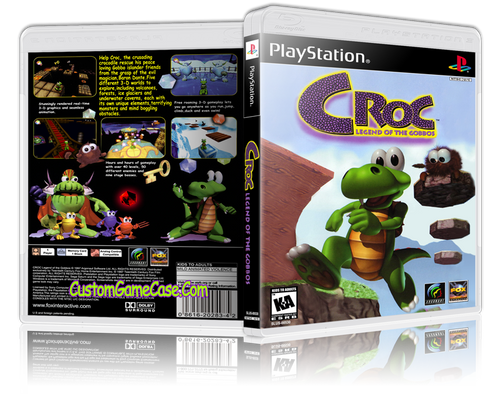 Croc Legend of the Gobbos - Sony PlayStation 1 PSX PS1 - Empty Custom Case
