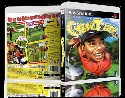 Cyber Tiger - Sony PlayStation 1 PSX PS1 - Empty Custom Case