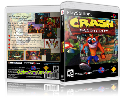 Crash Bandicoot - Sony PlayStation 1 PSX PS1 - Empty Custom Case