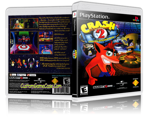 Crash Bandicoot 2 - Sony PlayStation 1 PSX PS1 - Empty Custom Case