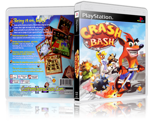 Crash Bandicoot Bash - Sony PlayStation 1 PSX PS1 - Empty Custom Case
