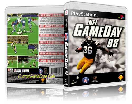NFL GameDay 98 - Sony PlayStation 1 PSX PS1 - Empty Custom Case