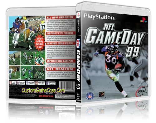 NFL GameDay 99 - Sony PlayStation 1 PSX PS1 - Empty Custom Case