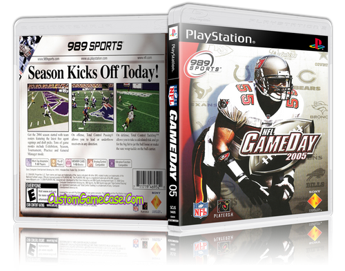 NFL GameDay 05 - Sony PlayStation 1 PSX PS1 - Empty Custom Case
