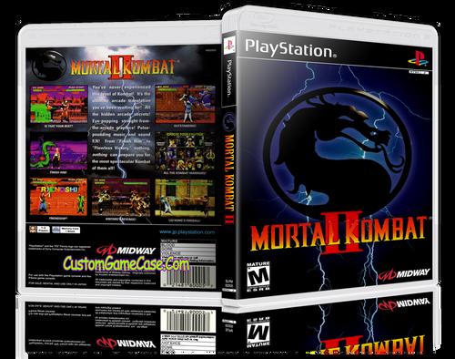 Mortal Kombat 2 - Sony PlayStation 1 PSX PS1 - Empty Custom Case