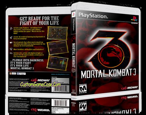 Mortal Kombat 3 - Sony PlayStation 1 PSX PS1 - Empty Custom Case