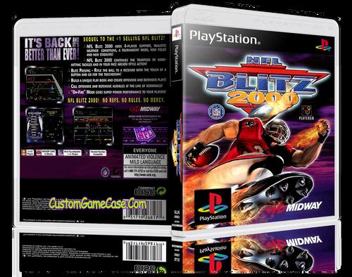 NFL Blitz 2000 - Sony PlayStation 1 PSX PS1 - Empty Custom Case
