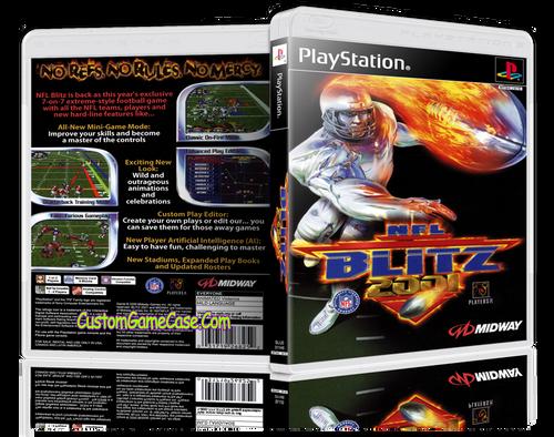 NFL Blitz 2001 - Sony PlayStation 1 PSX PS1 - Empty Custom Case