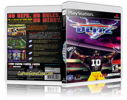 NFL Blitz - Sony PlayStation 1 PSX PS1 - Empty Custom Case