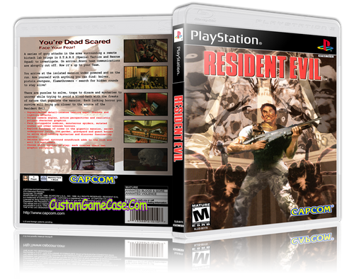 Resident Evil - Sony PlayStation 1 PSX PS1 - Empty Custom Case