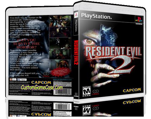 Resident Evil 2 - Sony PlayStation 1 PSX PS1 - Empty Custom Case