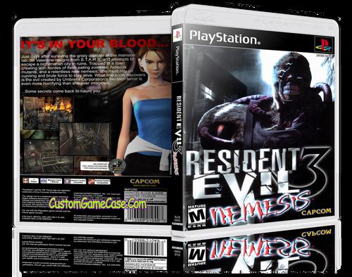 Resident Evil 3 Nemesis - Sony PlayStation 1 PSX PS1 - Empty Custom Case