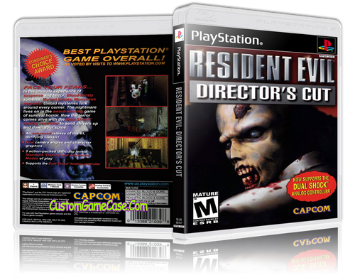 Resident Evil Director's Cut - Sony PlayStation 1 PSX PS1 - Empty Custom Case