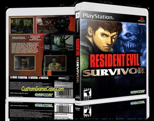 Resident Evil Survivor - Sony PlayStation 1 PSX PS1 - Empty Custom Case