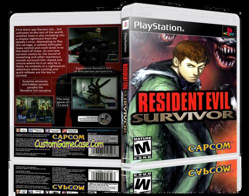 Resident Evil Survivor (2) - Sony PlayStation 1 PSX PS1 - Empty Custom Case