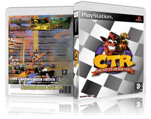 Crash Bandicoot Team Racing (2) - Sony PlayStation 1 PSX PS1 - Empty Custom Case