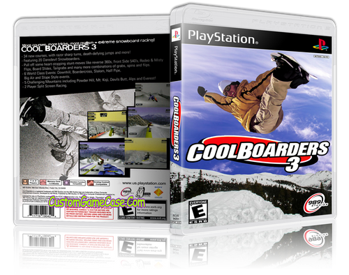 CoolBoarders 3 - Sony PlayStation 1 PSX PS1 - Empty Custom Case