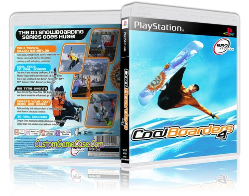 CoolBoarders 4 - Sony PlayStation 1 PSX PS1 - Empty Custom Case