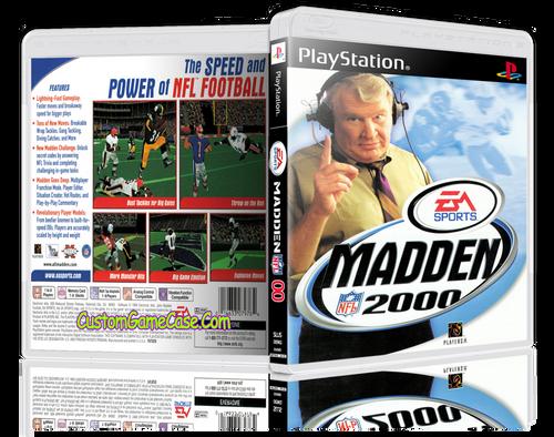 Madden 00 - Sony PlayStation 1 PSX PS1 - Empty Custom Case