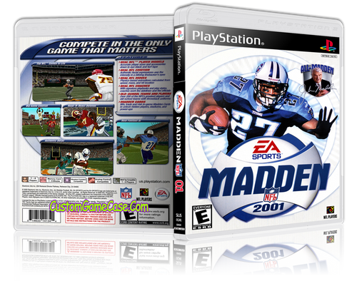 Madden 01 - Sony PlayStation 1 PSX PS1 - Empty Custom Case