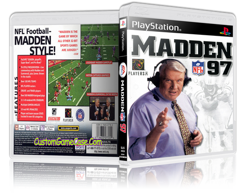 Madden 97 - Sony PlayStation 1 PSX PS1 - Empty Custom Case