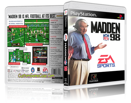 Madden 98 - Sony PlayStation 1 PSX PS1 - Empty Custom Case