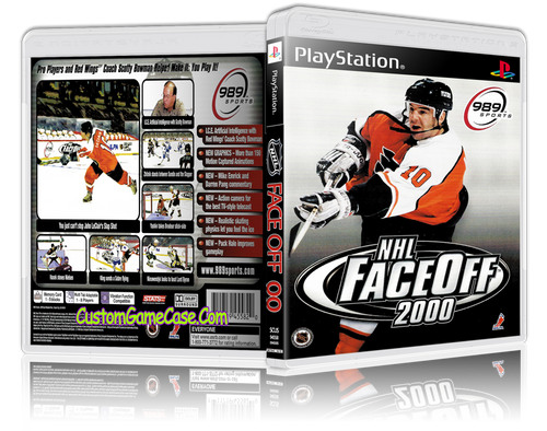 NHL FaceOff 00 - Sony PlayStation 1 PSX PS1 - Empty Custom Case