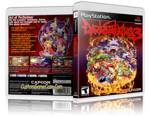 Darkstalkers 3 - Sony PlayStation 1 PSX PS1 - Empty Custom Case