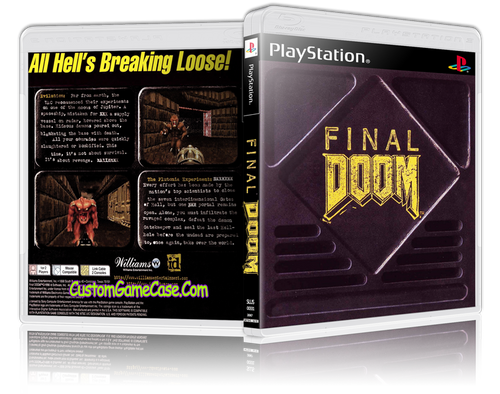 Final Doom - Sony PlayStation 1 PSX PS1 - Empty Custom Case