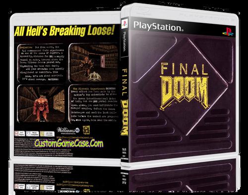 Final Doom - Sony PlayStation 1 PSX PS1 - Empty Custom Case