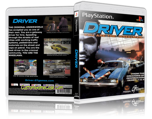Driver - Sony PlayStation 1 PSX PS1 - Empty Custom Case