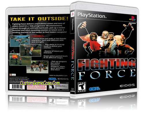 Fighting Force - Sony PlayStation 1 PSX PS1 - Empty Custom Case