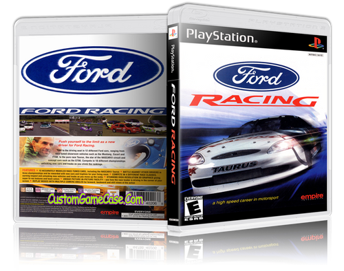 Ford Racing - Sony PlayStation 1 PSX PS1 - Empty Custom Case