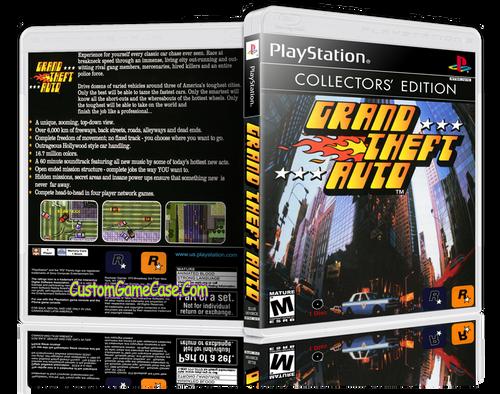 Grand Theft Auto - Sony PlayStation 1 PSX PS1 - Empty Custom Case
