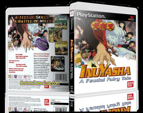 InuYasha A Feudal Fairy Tale - Sony PlayStation 1 PSX PS1 - Empty Custom Case