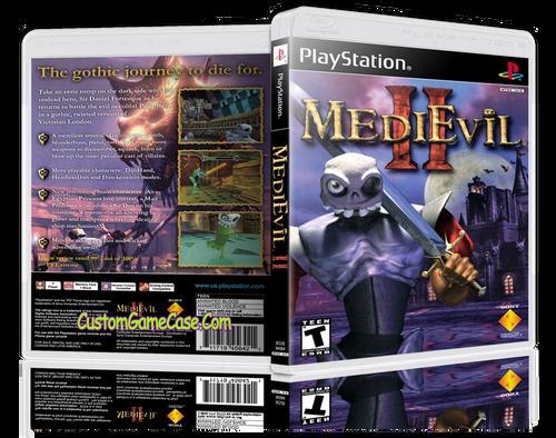 Medievil 2 - Sony PlayStation 1 PSX PS1 - Empty Custom Case