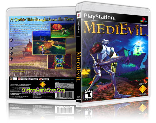 Medievil - Sony PlayStation 1 PSX PS1 - Empty Custom Case