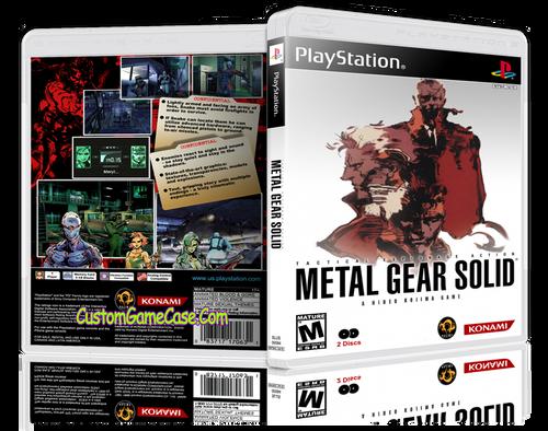 Metal Gear Solid - Sony PlayStation 1 PSX PS1 - Empty Custom Case